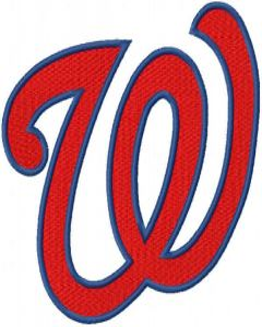 Washington Nationals classic logo embroidery design