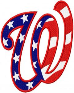 Washington Nationals USA embroidery design