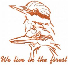 We live in the forest embroidery design