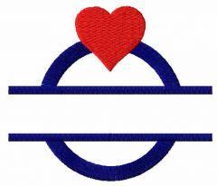 Wedding ring monogram embroidery design