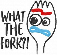 What the Fork? embroidery design