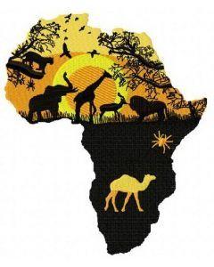 Wild Africa 2 embroidery design