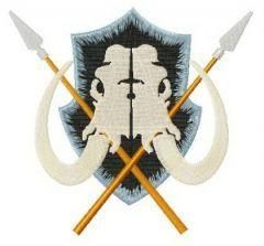 Wildlings logo embroidery design