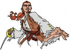 Will Turner with Sword embroidery design