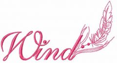 Wind 2 embroidery design