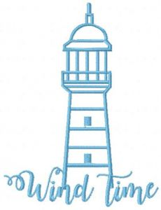 Wind time embroidery design