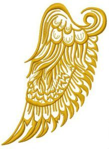 Wing machine embroidery design 2