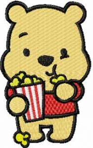 Winnie the Pooh movie fan embroidery design