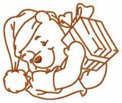 Winnie's present 3 embroidery design