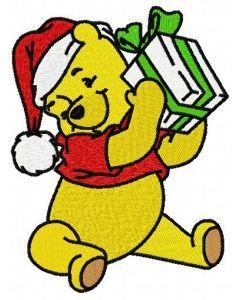 Winnie's present embroidery design