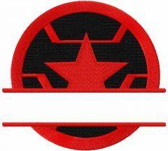 Winter soldier monogram embroidery design