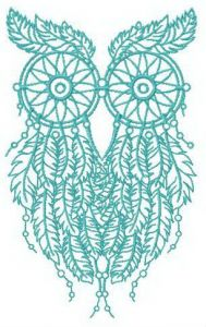 Wise dreamcatcher embroidery design