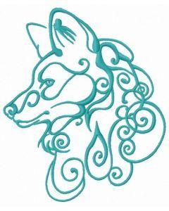 Wolf spirit embroidery design 6