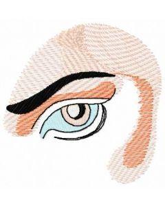 Woman eye 2 embroidery design