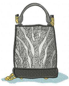 Women's fashion bag embroidery design
