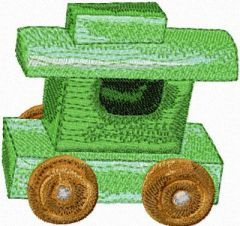 Wooden Truck embroidery design
