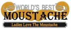 World's best moustache embroidery design