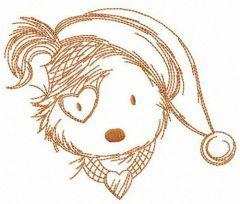 X-mas puppy embroidery design
