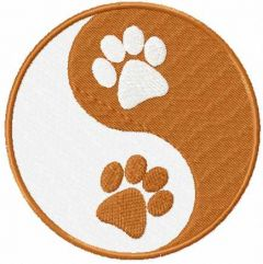 Ying And Yang Paws embroidery design