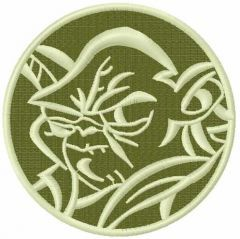 Yoda 9 embroidery design