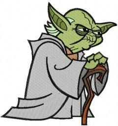 Yoda Thinks embroidery design