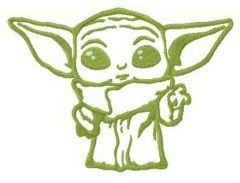 Yoda wait! embroidery design