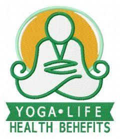 Yoga life 2 embroidery design