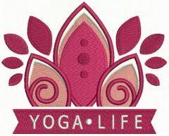 Yoga life embroidery design