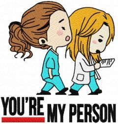 You're my person small variant embroidery design