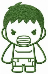 Young Hulk embroidery design