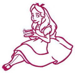 Young lady Alice embroidery design