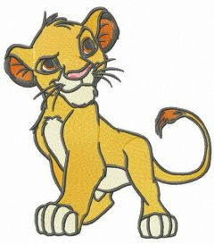 Young Simba embroidery design