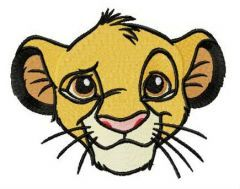 Young Simba muzzle embroidery design