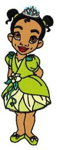 Young Tiana embroidery design