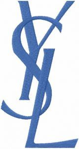 Yves Saint Laurent Logo embroidery design