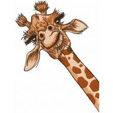 I giraffe embroidery design