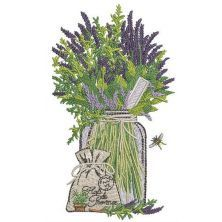 Provencal herbs 2 embroidery design