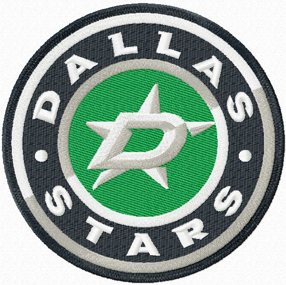 Dallas Stars hockey team logo embroidery design