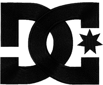 DC Shoes logo machine embroidery design