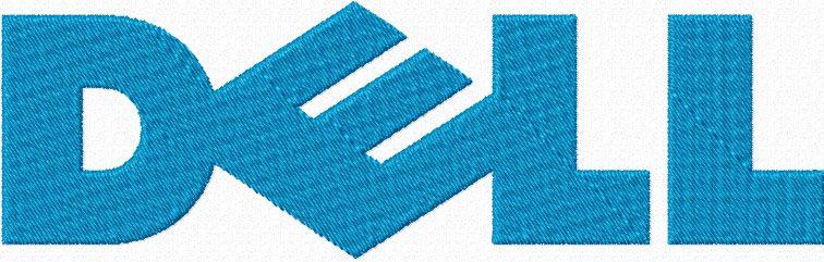 Dell logo machine embroidery design