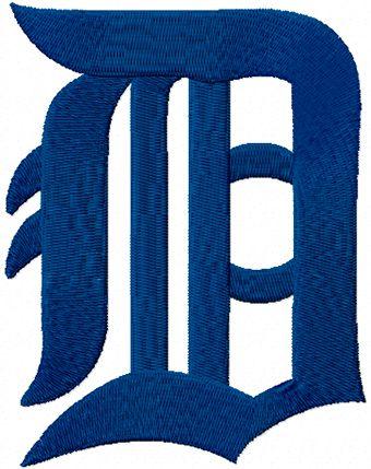 Detroit Tigers Classic Logo machine embroidery design