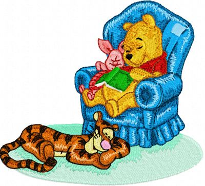Dream: Winnie Pooh and Tigger, Piglet embroidery design