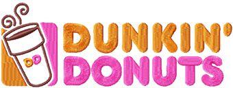 Dunkin Donuts logo machine embroidery design