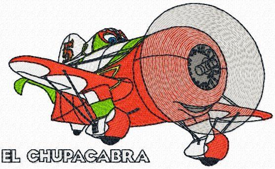 El Chupacabra machine embroidery design