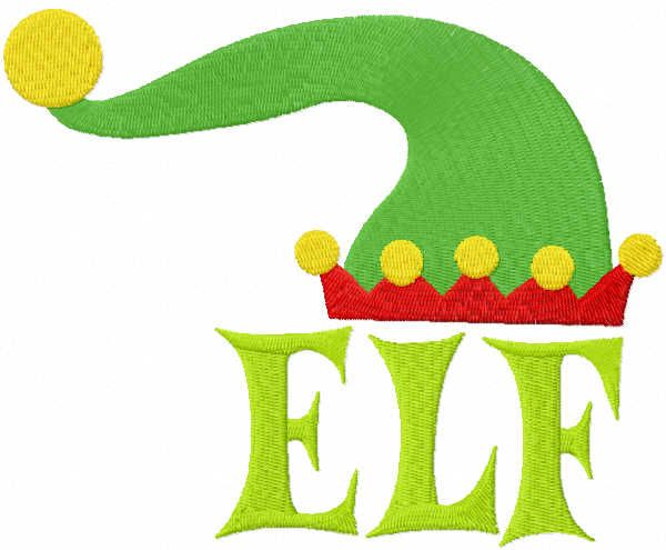 Elf and hat embroidery design