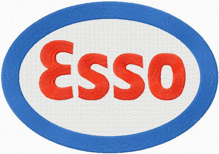 Esso logo machine embroidery design