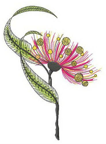 Eucalyptus flower embroidery design