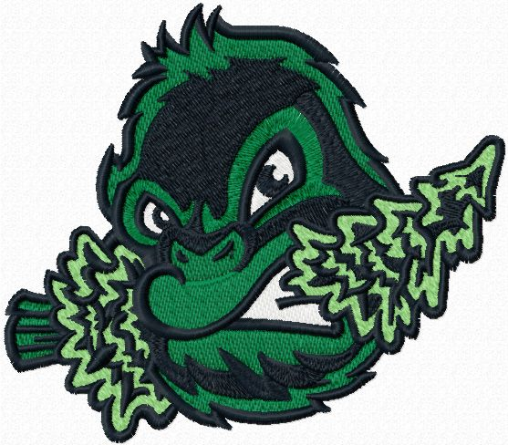 Eugene Emeralds cap logo machine embroidery design
