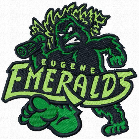 Eugene Emeralds logo machine embroidery design