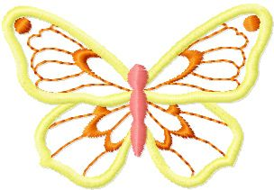 Butterfly Applique machine embroidery design